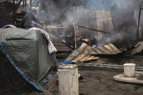 Jungle shelter destroyed